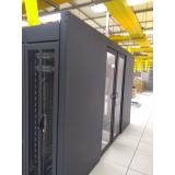 confinamento térmico para data center com porta automática